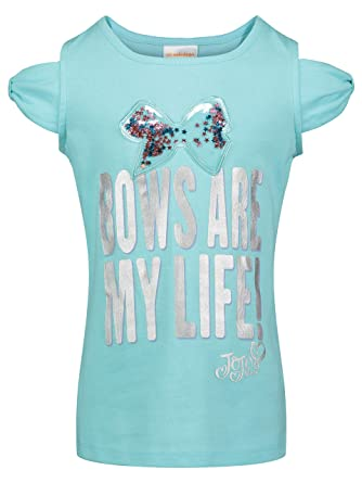 914d8c26d81ad Amazon.com  Jojo Siwa Girls Short Sleeve Unicorn Hearts and Bows Print Tops  and Scooter Skirt  Clothing