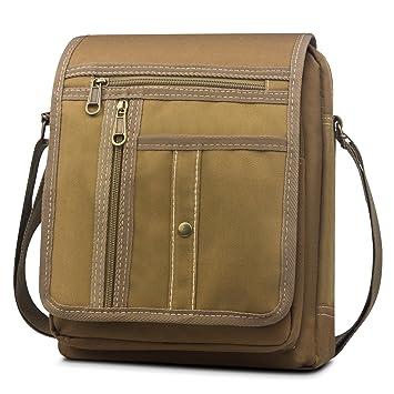 77d251aae4c BAGZY Mens Messenger Bag Vintage Canvas Ipad Bag Shoulder Bag Casual Sling  Satchel Crossbody Day Bag