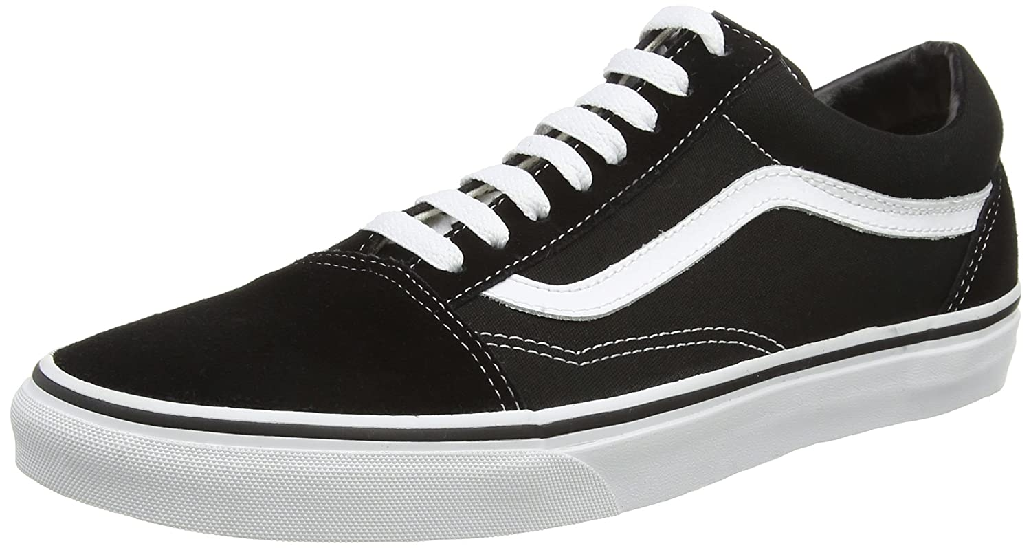 Vans Unisex Old Skool Classic Skate Shoes B079GKT5MQ 9 D(M) US|Black / White
