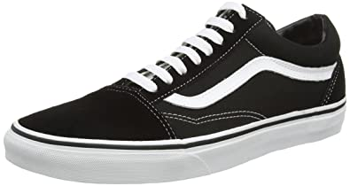 old skool vans black blue