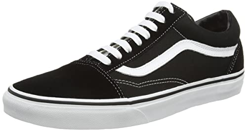 Vans Old Skool Leather Sneaker Unisex Adulto Nero Black/White 50