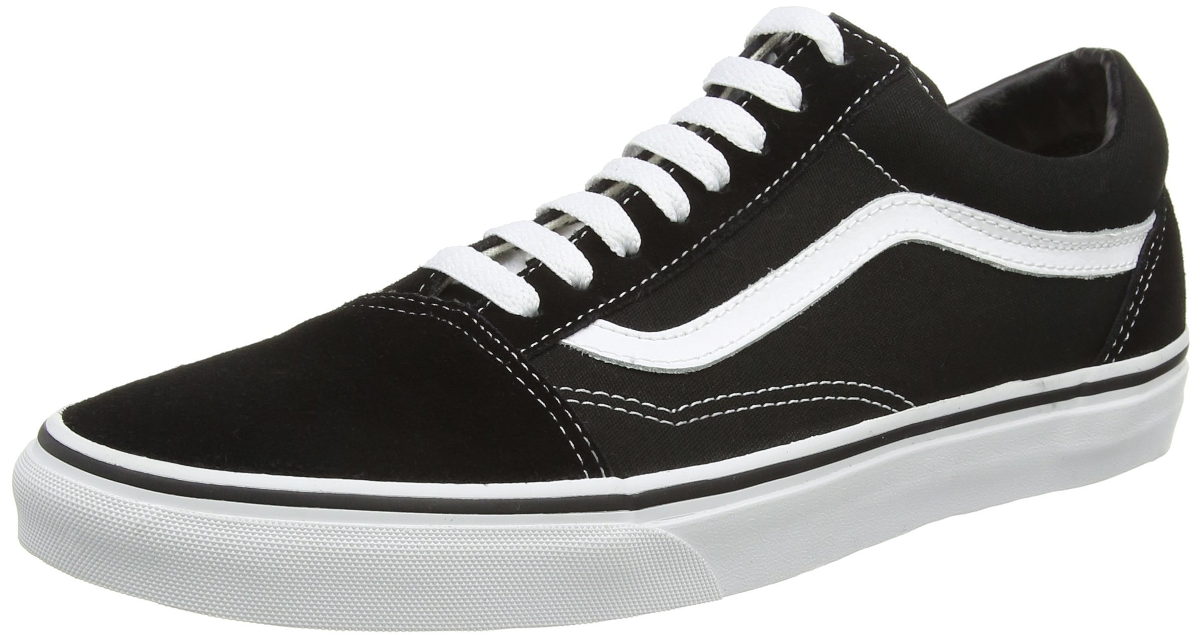 Vans Unisex Old Skool Black/White Skate Shoe 12 Men US by Vans