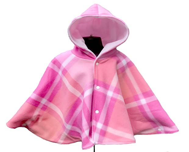 Pink Plaid Baby Or Toddler Fleece Car Seat Poncho