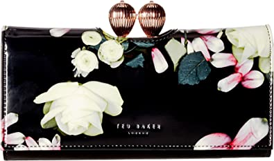 0dba6c93c526 Ted Baker Marcoo Kensington Floral Leather Matinee Wallet - BLACK ...