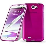 Cadorabo - Silikon TPU Schutzhülle für Samsung Galaxy NOTE 2 (N7100) Hülle Case Cover in Edelstahl-Optik gebürstet (brushed) in PINK
