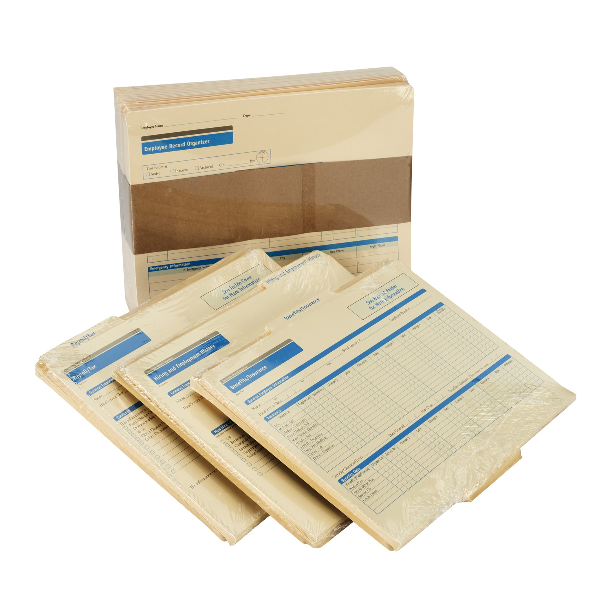 ComplyRight Employee Record Organizer 3-Folder Set, 25 Sets by ComplyRight