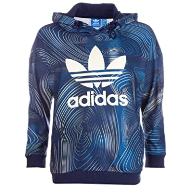 Bleu Blue Adidas Originals Femme Sweat Geo Oversize pqUzSMV