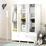JOISCOPE MEGAFUTURE Portable Wardrobe for Hanging Clothes,Combination Armoire, Modular Cabinet for Space Saving, Ideal Storag