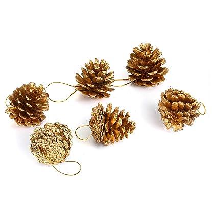 Pine Cone Christmas Tree Craft Project.Amazon Com 6pcs Pine Cones Glittery Silver Gold Home Decor Craft