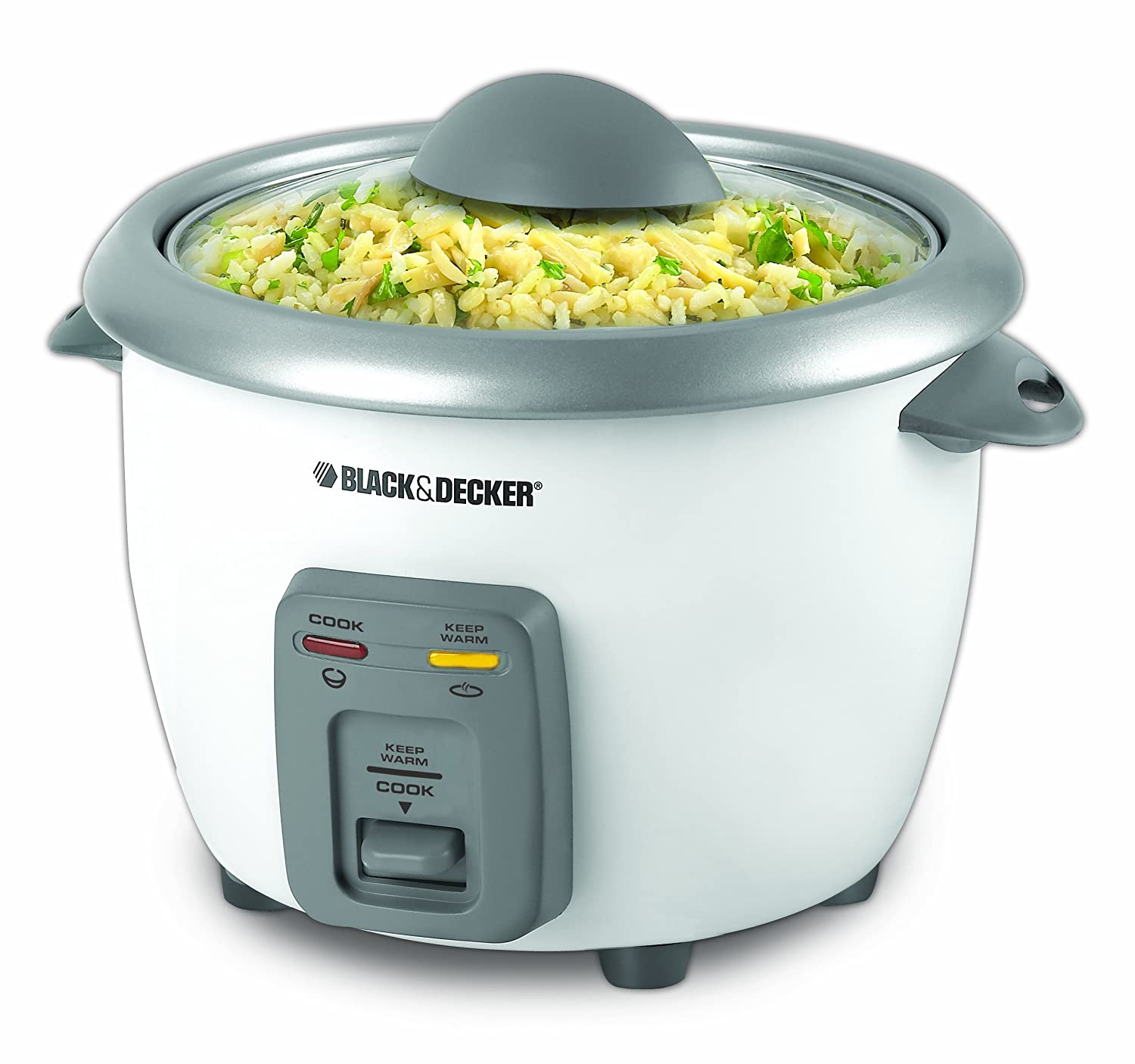 6cup Rice Cooker And Steamer,  White: Kitchen & Dining