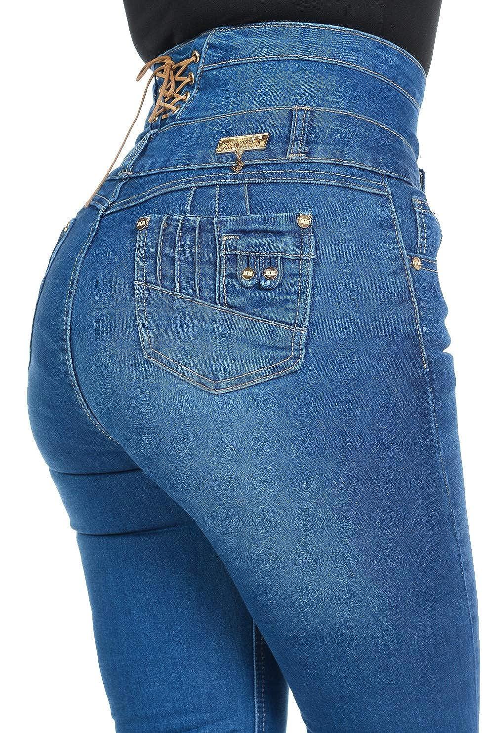 Women Plus/Junior Size Butt Lift Levanta Cola Push Up High Waist Skinny Jeans