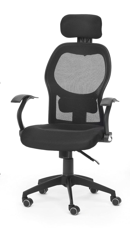 Due-home Silla de oficina ergonómica, color negro