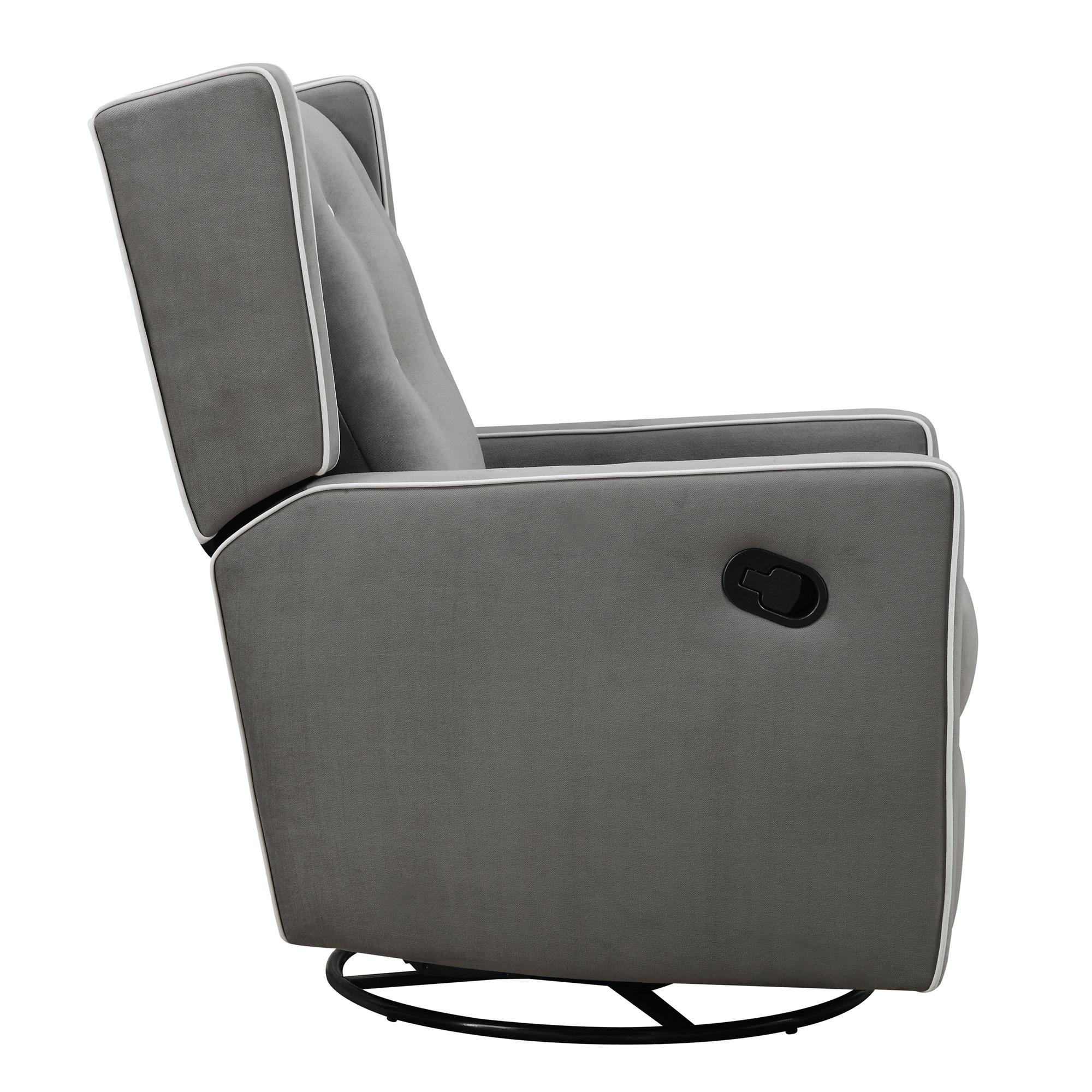 Baby Relax Mikayla Swivel Gliding Recliner, Gray Microfiber by Baby Relax (Image #4)