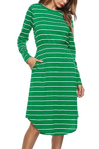 Misschicy -  Vestito  - linea ad a - Maniche lunghe  - Donna