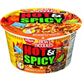 Nissin Bowl Noodles Hot and Spicy Chicken, 92.5 Gram, Pack of 6