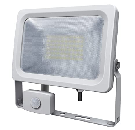 Foco LED Slimline de Aquarius, con sensor de movimiento PIR, 30 W, brillante