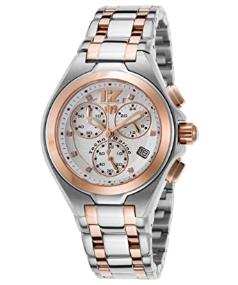 Technomarine Tm-215020 Womens Manta Neo Classic Diam Chrono Two-Tone Ss Rose-