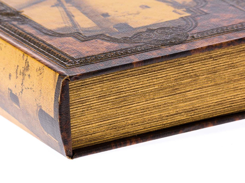 Schatulle Windmühle Holz Buchattrappe Box Kästchen Etui Buch antik Stil book XL
