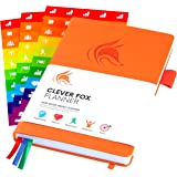 The Clever Fox Planner - Undated Weekly Planner, Organizer, Calendar and Gratitude Journal to Boost Productivity, Happiness and Hit Your Goals in 2019 - Lasts 1 Year - A5 Size - Stickers - Orange
