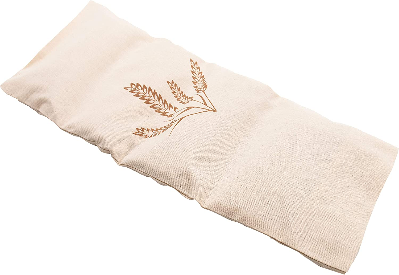 Zollner24 cojín térmico con semillas de trigo naturales, 20x53 cm