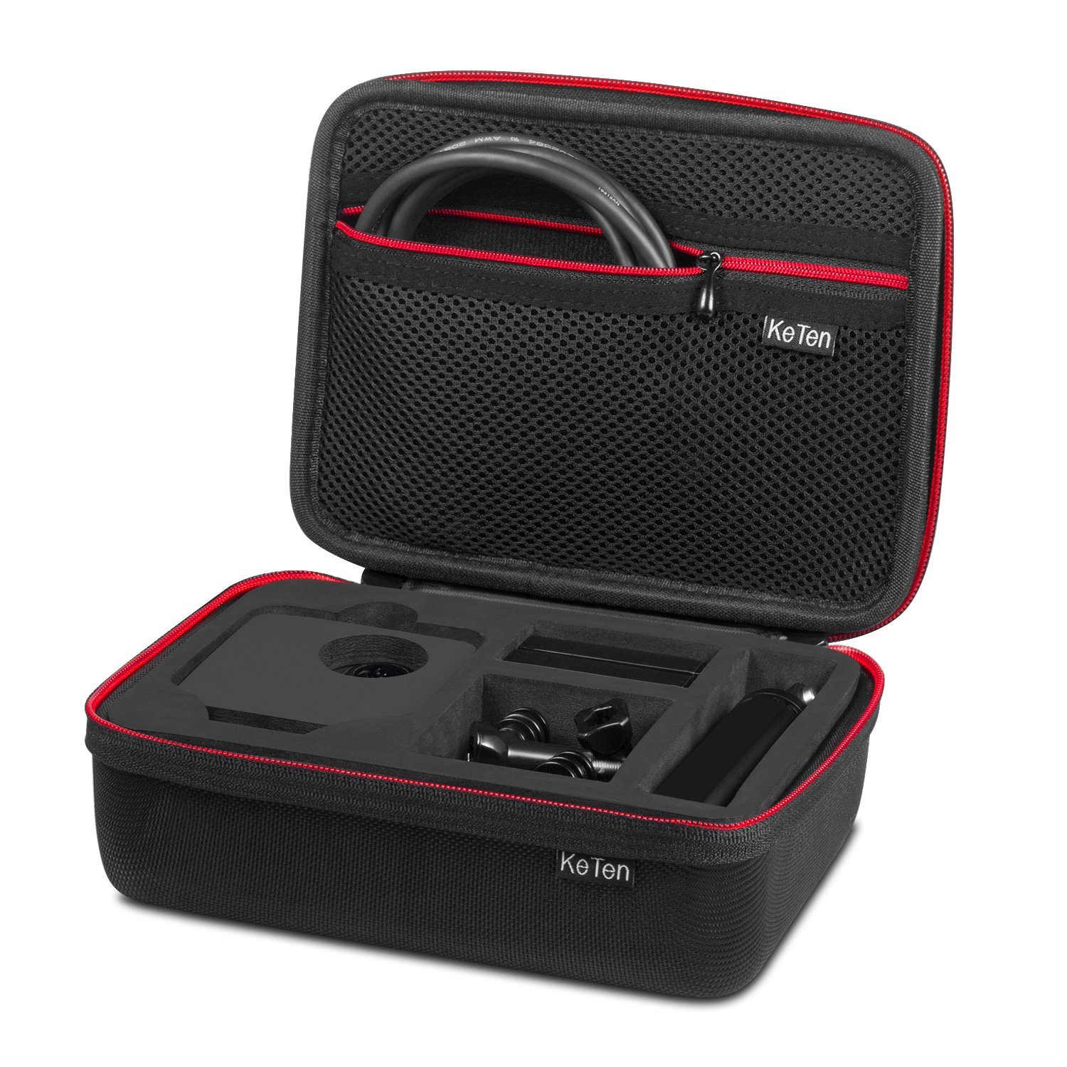 GoPro Fusion Case, Keten Deluxe Travel Carrying Case with Buffer Sponge, Hard Shell Case, Large Storage for Adapter and Other GoPro Accessories, Best Protective Case for GoPro Camera by Keten