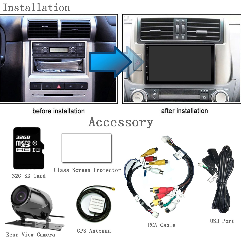 KX09CA32 Android Car Stereo GPS Navigation 1GB RAM 16GB ROM 32G SD