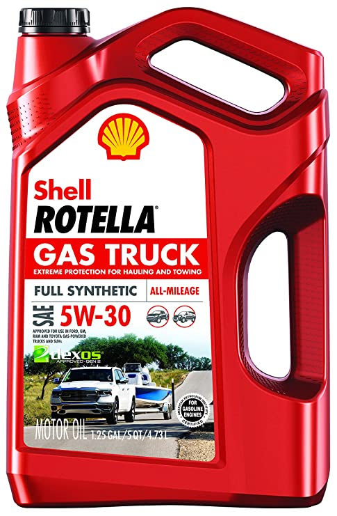 Rotella Gas Truck 5W-30 Full Synthetic Motor Oil, 5 Quart - Pack of 1