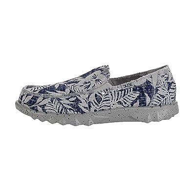 Resbalón De Farty Impresión Flor Marina De Guerra Dude Shoes Hombres En/Mula: Amazon.es: Zapatos y complementos
