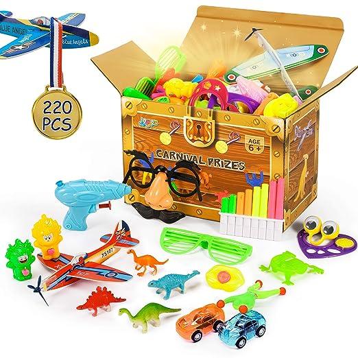 Joyjoz Relleno Piñata, 220PCS Favores de Fiesta Juguete Piñatas de Cumpleaños Regalos para niños Niños Niñas, Detalles Cumpleaños Infantiles School ...