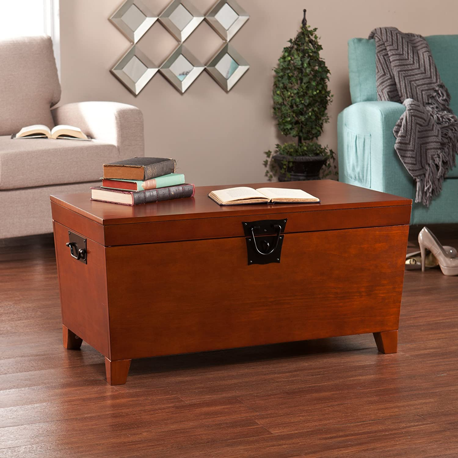 Amazon Southern Enterprises Pyramid Storage Trunk Cocktail