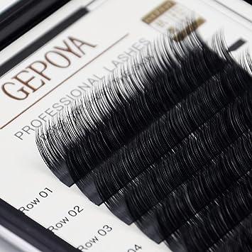 c55ac5c2ae8 Eyelash Extensions GEPOYA Luxury Mink Lash C Curl 9-15mm Semi-Permanent  Individual False