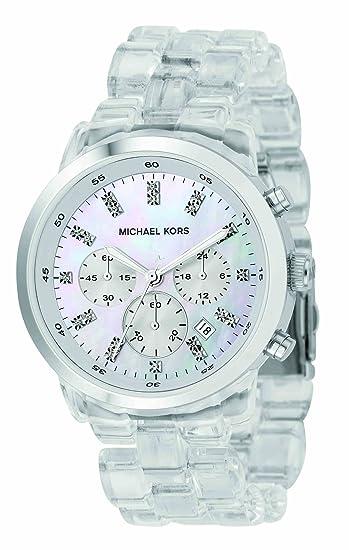 Michael Kors MK5235 - Reloj de mujer de cuarzo, correa de plástico color  beige  Michael Kors  Amazon.es  Relojes 9418e9138d