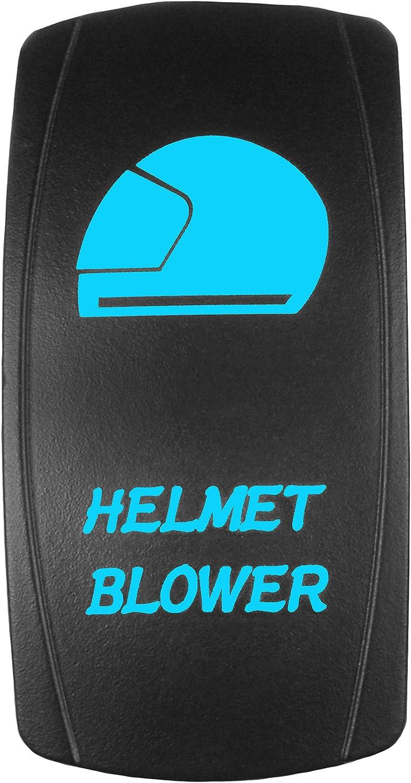 STVMotorsports Laser Backlit Rocker Switch Helmet Blower 20A 12V On/Off LED Light (Blue)