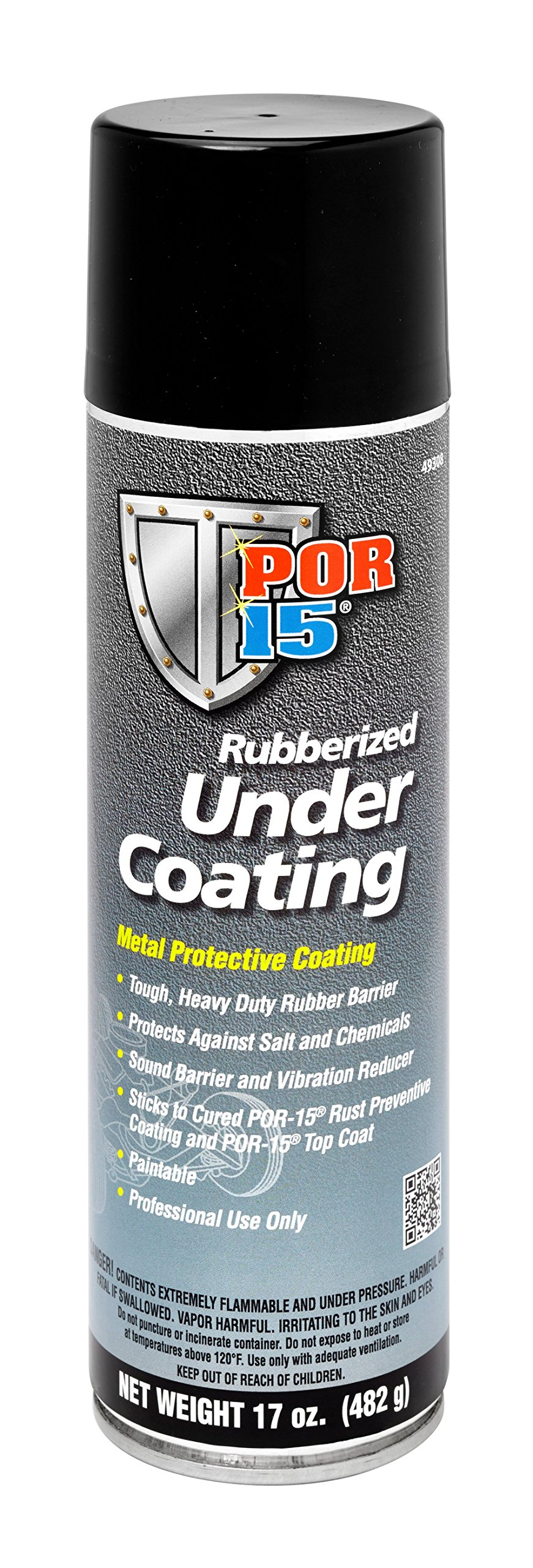 POR-15 49308 Rubberized Under Coating - 17 fl. oz. by POR-15