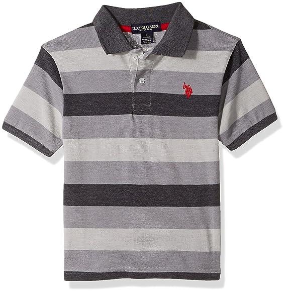 Amazon.com: u.s. polo assn. Boys cotton-poly de rayas Polo ...