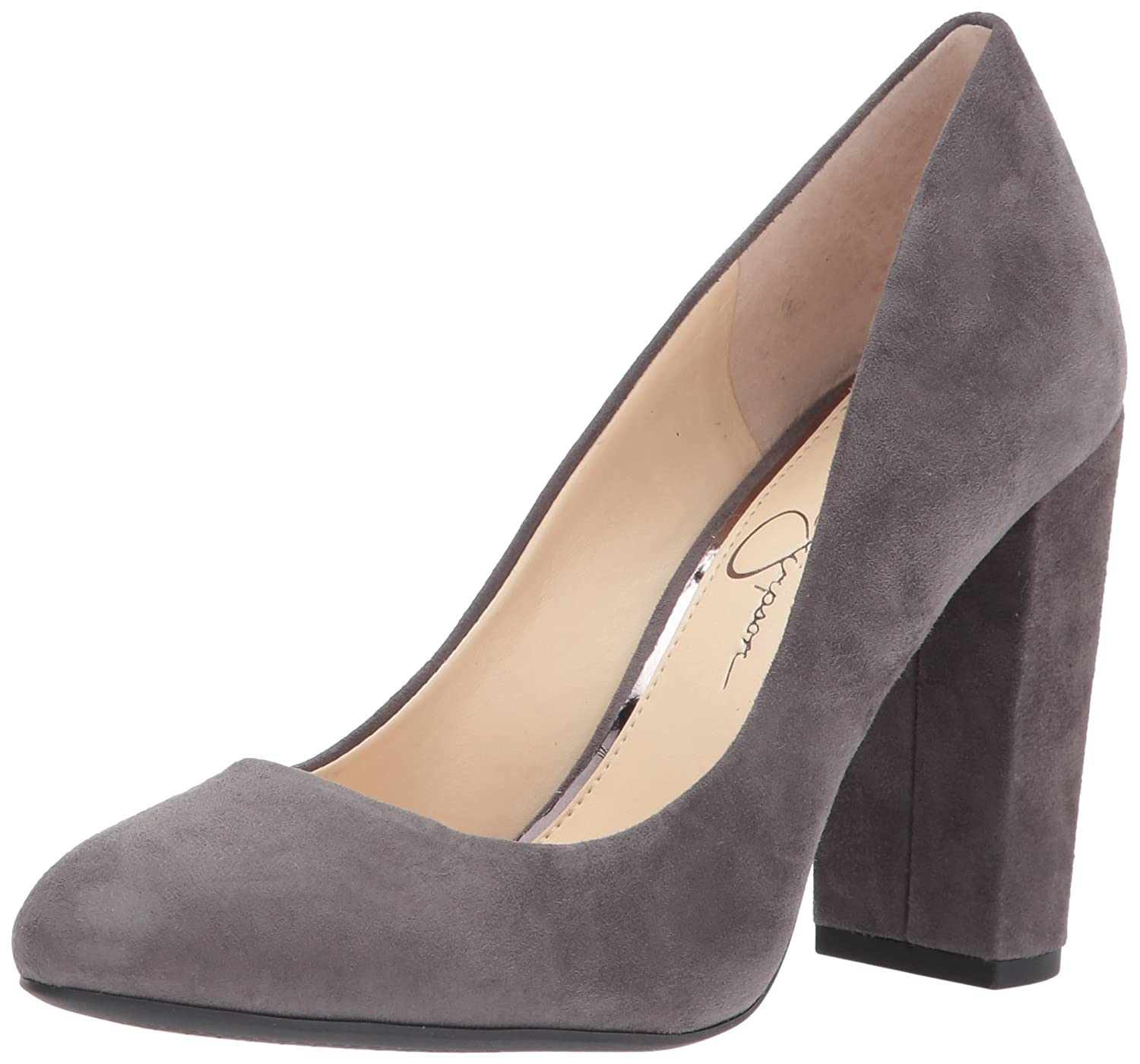 Jessica Simpson Women's Belemo Pump B0728JP8VM 7 M US|Really Grey