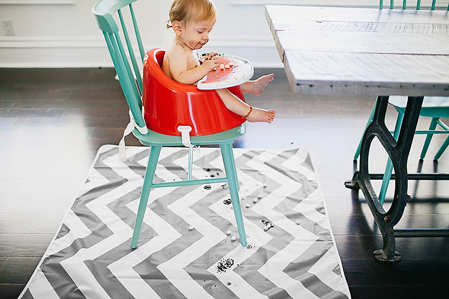 42 x 42-Inch, Chevron Coral Prince Lionheart Multi-Use CatchALL Floor Mat