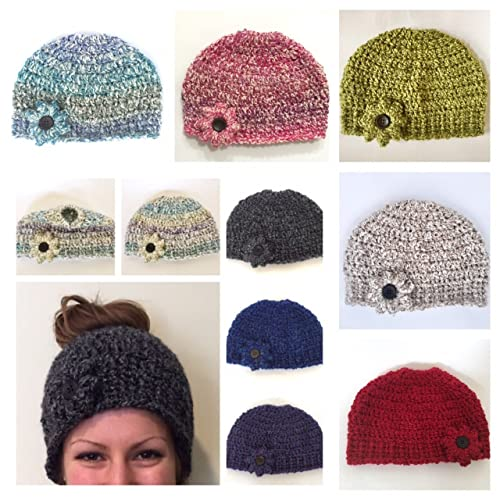Image Unavailable. Image not available for. Color  Women s Super Soft Ponytail  Hat Messy Bun ... 6c29aa020