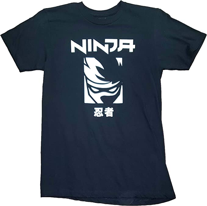Amazon.com: Ninja Tyler Blevins Logo Black Graphic T-Shirt ...