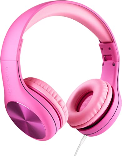 New LilGadgets Connect PRO Kids Premium Volume Limited Wired Headphones with SharePort Children – Pink