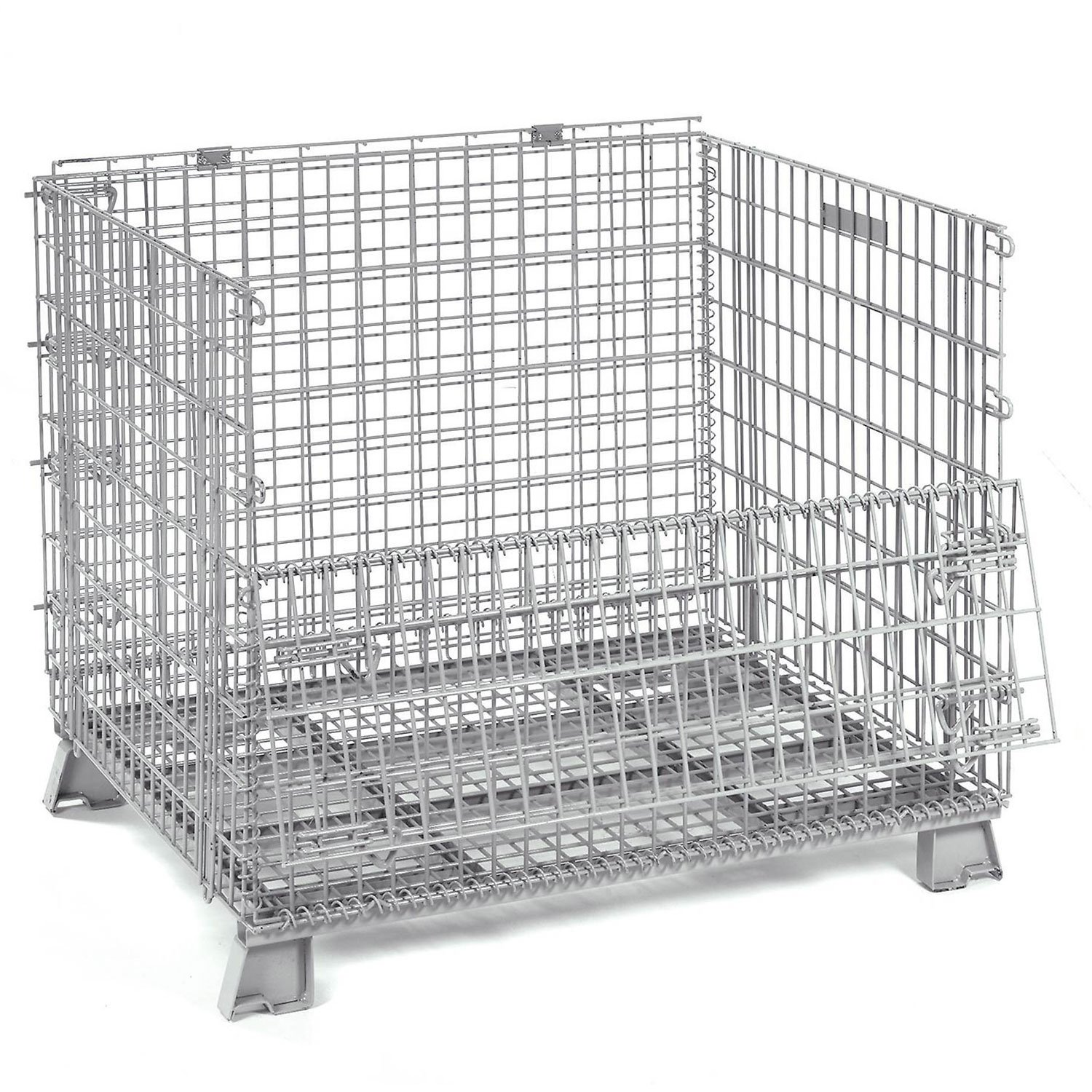 40x32x34-1/2 Folding Wire Container, 4000 Lb Capacity