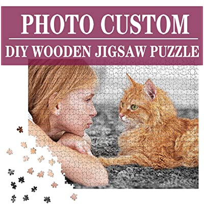 Custom Photo Puzzle 300 Piece for Adults, Large Piece PersonalizedCustom Wooden Jigsaw Puzzle Family Photo Wedding Photos 15 x 10 inches: Toys & Games