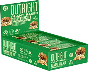 Outright Bar - Whole Food Protein Bar - 12 Pack - MTS Nutrition (Vegan Banana Walnut Peanut Butter)
