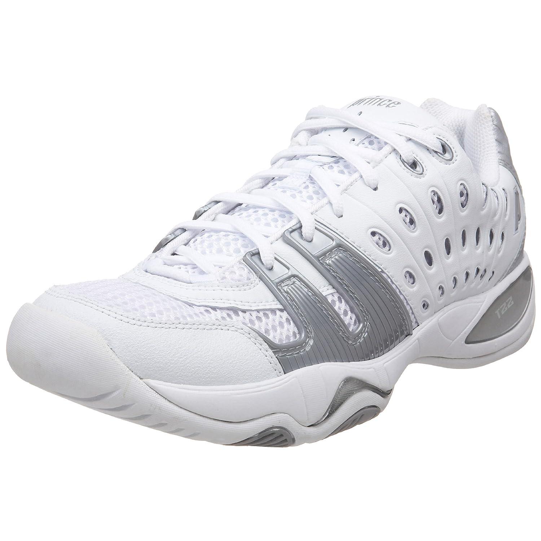 Prince Women's T22 Tennis Shoe B001F1ZDFA 11 B(M) US White/Silver