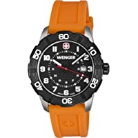 Wenger Roadster Dial Silicone Strap Mens Watch 010853103 (Black)