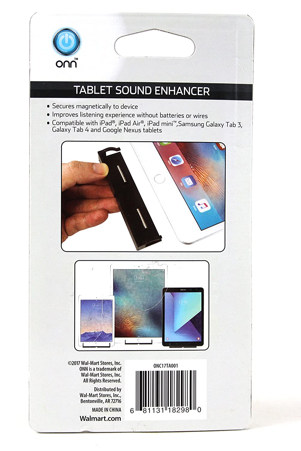 Onn Tablet Sound Enhancer Directional Wiring Money At Walmart Amplification Black White Computers Accessories