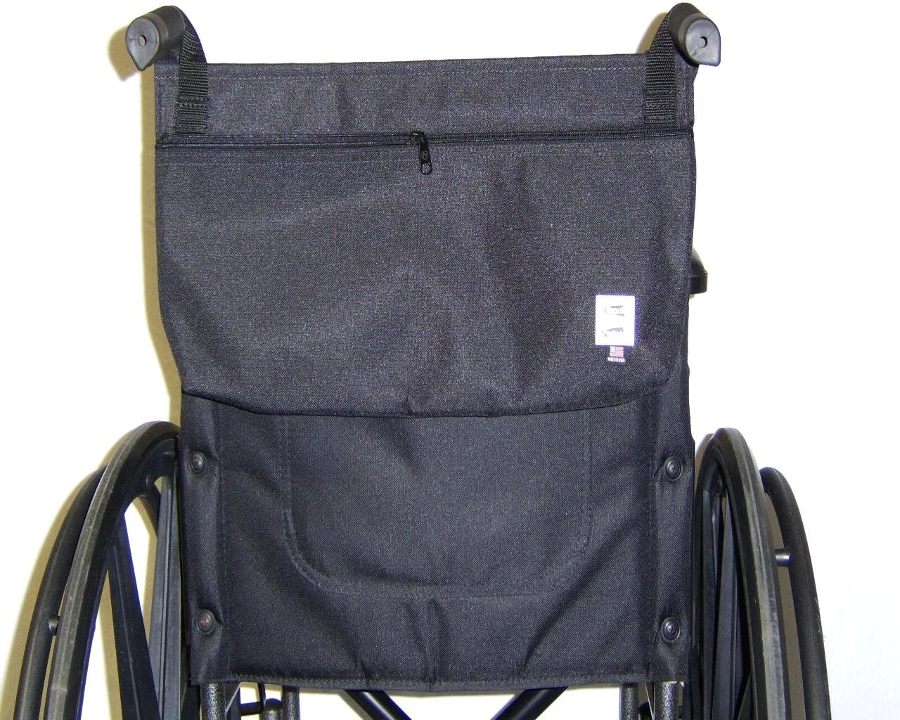 Handi Pockets 3b6bk Storage Accessory Wheelchair, Cordura, Black with Zipper