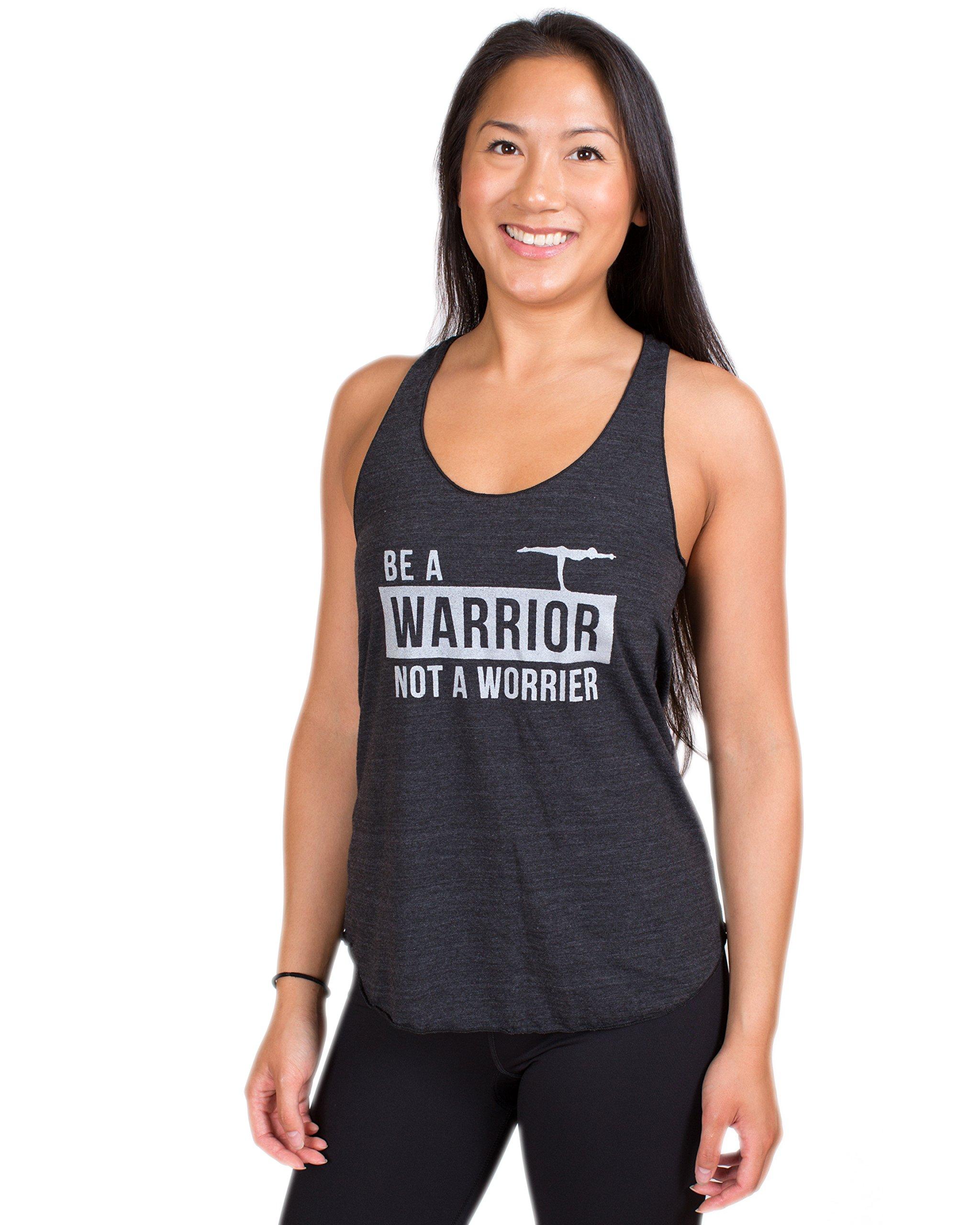 Inner Fire - Be A Warrior Not A Worrier - Tri-Black - Women's Yoga Tank - Medium