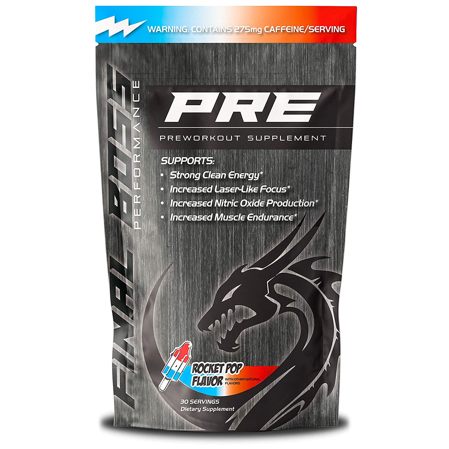 Final Boss PRE-Workout – Extreme Energy, Razor Sharp Focus, Lasting Endurance – Beta Alanine – Rocket Pop Flavor