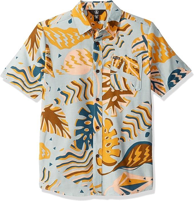 Volcom - Camiseta de manga corta con botones: Amazon.es: Ropa y accesorios